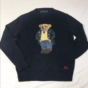 Polo Ralph Lauren Toggle Coat Argyle Bear Sweater